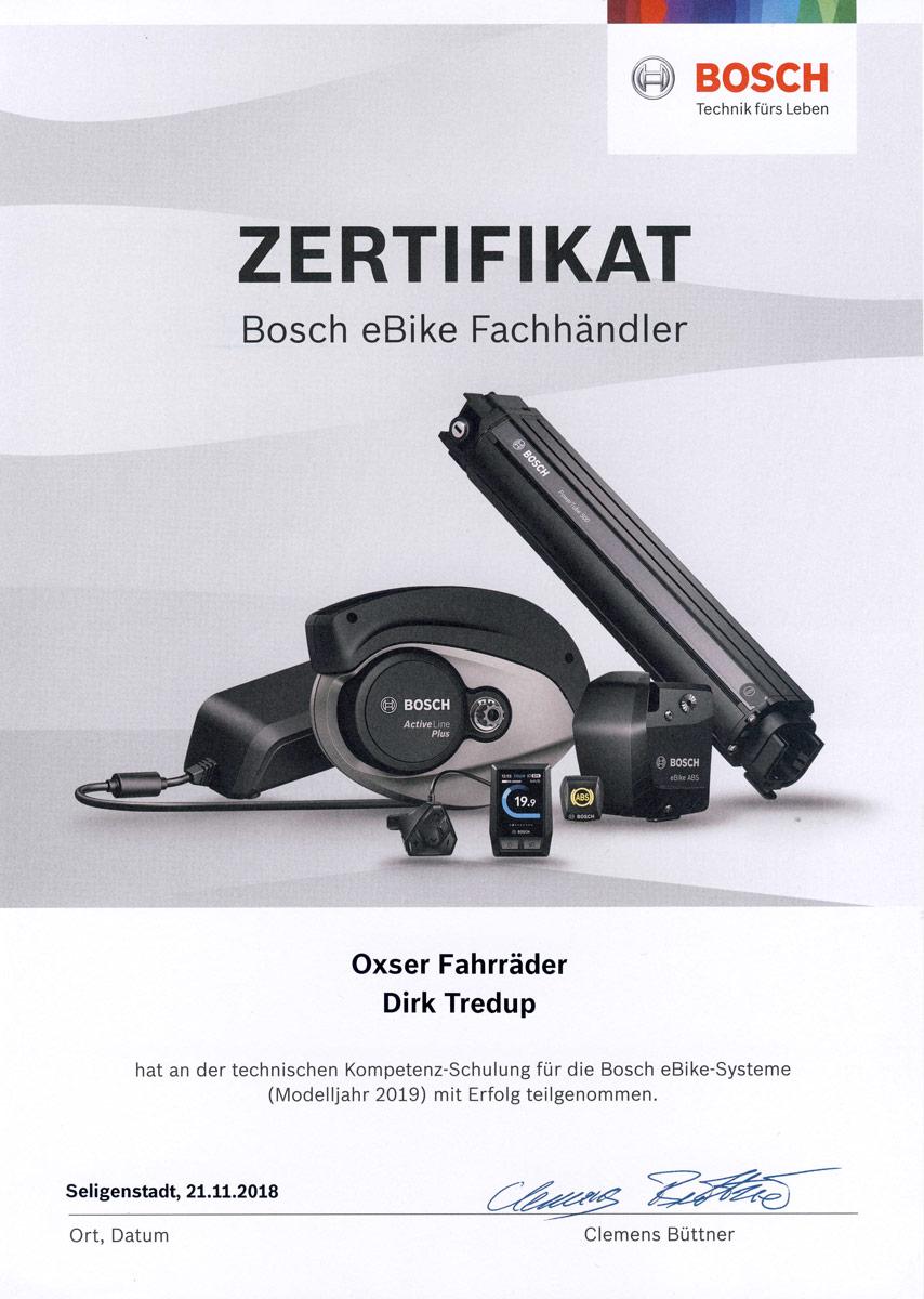 Bosch Zertifikat 2019