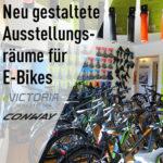 Neu gestaltete E-Bike Ausstellungsräume