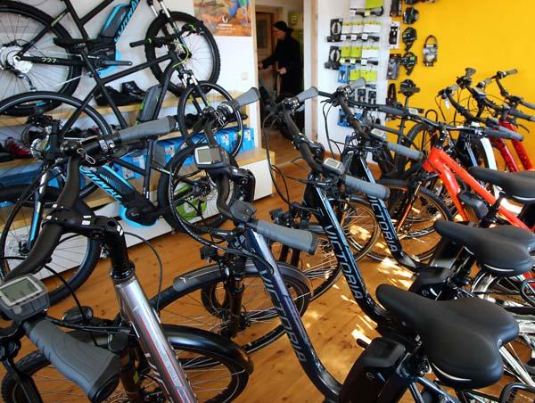 E-Bike Ausstellungsraum